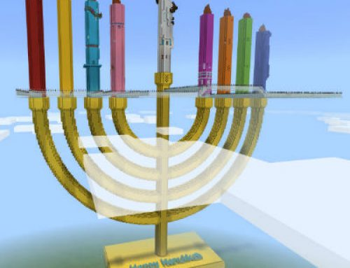 The First Educational Hanukkah Themed Minecraft Game